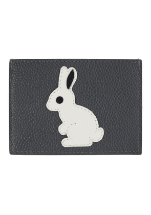 Thom Browne Grey Rabbit Icon Card Holder
