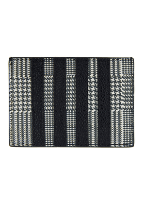 Thom Browne Black Prince Of Wales 4-Bar Single Card Holder