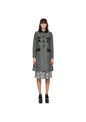 Marc Jacobs Black and Blue Sunday Best Coat