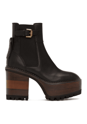 See by Chloe Black Casey Platform Boots