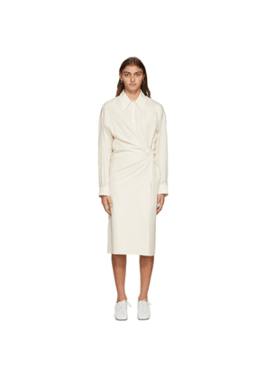 Lemaire Off-White Poplin Twisted Dress