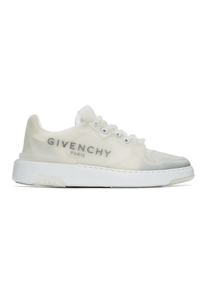Givenchy White Baskets Wing Sneakers