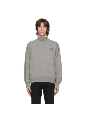 Enfants Riches Deprimes Grey Cashmere Classic Logo Turtleneck