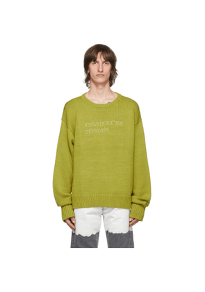 Enfants Riches Deprimes Green Classic Logo Sweater