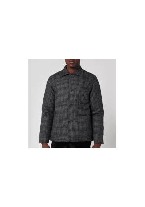 Officine Generale Men's Chore Houndstooth Padded Jacket - Grey - 48/M