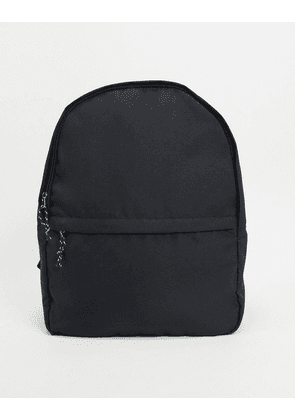 ASOS DESIGN backpack in black nylon with contrast puller
