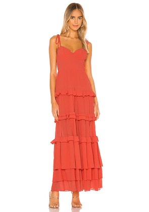Tularosa Tinsley Dress in Coral. Size XS.