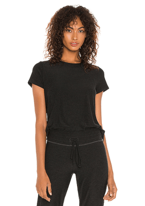 Beyond Yoga On The Low Tee in Black. Size S,XS.