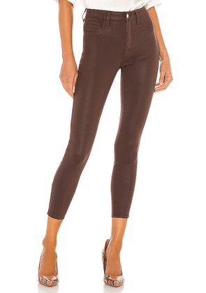 L'AGENCE Margot High Rise Skinny in Brown. Size 23,27,28,30.