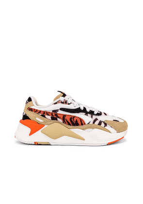 Puma RS-X3 Wild Cats Sneaker in White,Beige. Size 6.5,7,7.5,8,8.5,9.