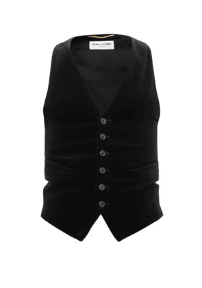 Saint Laurent - Cotton-velvet Waistcoat - Womens - Black