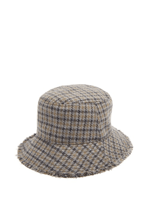 Paul Smith - Checked Wool Bucket Hat - Mens - Grey