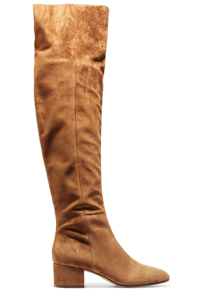 Gianvito Rossi Suede Over-the-knee Boots Woman Light brown Size 34