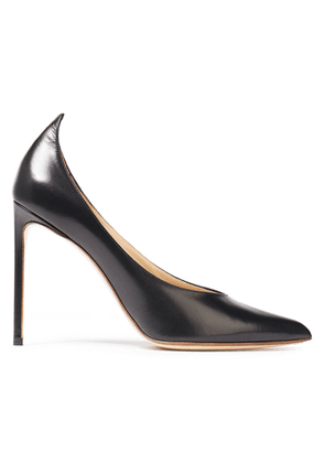 Francesco Russo Glossed-leather Pumps Woman Black Size 40