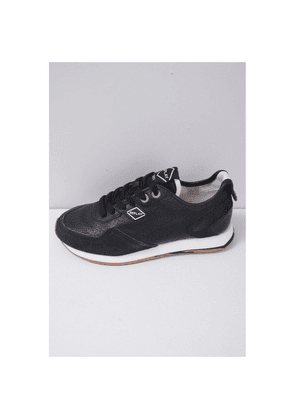 Replay Footwear Tag 81 Leather Trainer Colour: Black/Gum