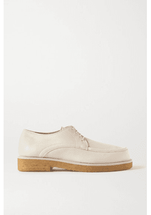 The Row - Honore Textured-leather Brogues - Cream