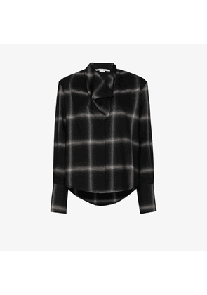 Stella Mccartney Womens Black Amabella Plaid Shirt
