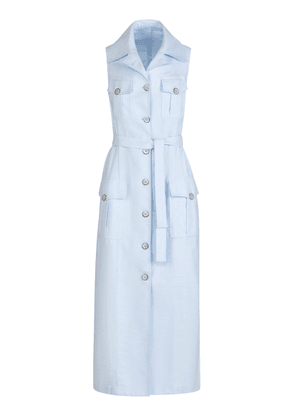 Giuliva Heritage The Mary Angel Belted Cotton-Twill Midi Dress