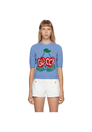 Gucci Blue Beverly Hills Sweater