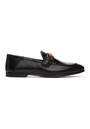 Gucci Black Leather Brixton Loafers