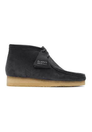 Clarks Originals Navy Suede Wallabee Desert Boots