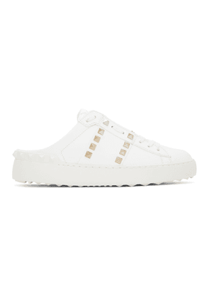 Valentino White Valentino Garavani Rockstud Untitled Backless Sneakers