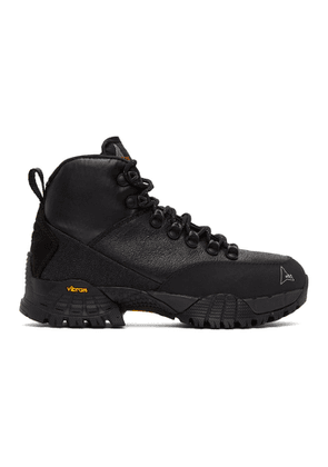 ROA Black Spitfire Andreas Lace-Up Boots