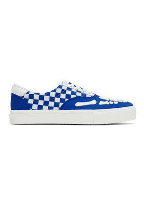 Amiri Blue and White Checkered Skeleton Toe Sneakers