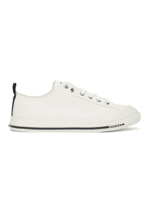 Diesel White S-Astico Low Sneakers
