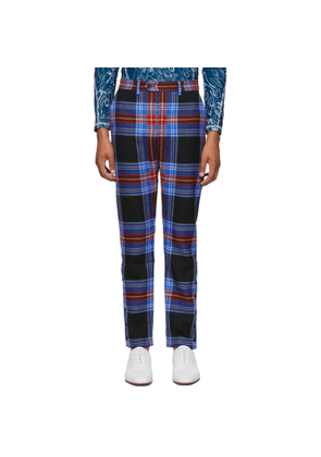 Charles Jeffrey Loverboy Navy Tartan Teddy Boy Trousers