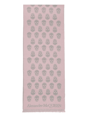 Reversible Skull Wool Scarf