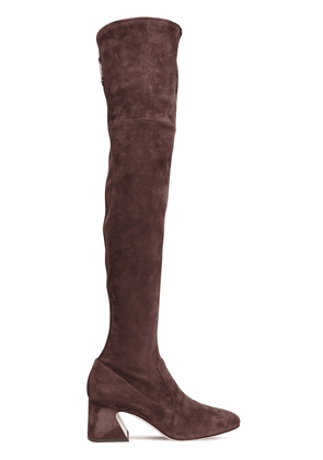 60mm Stretch Suede Over-the-knee Boots