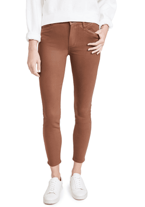 PAIGE Hoxton Coated Ankle Jeans