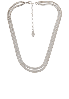 8 Other Reasons Freedom Necklace in Metallic Silver.