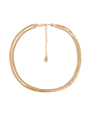 8 Other Reasons Freedom Necklace in Metallic Gold.