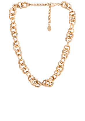 8 Other Reasons Falling For You Necklace in Metallic Gold.