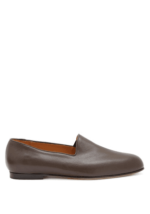 Jacques Soloviere - Leather Loafers - Mens - Brown