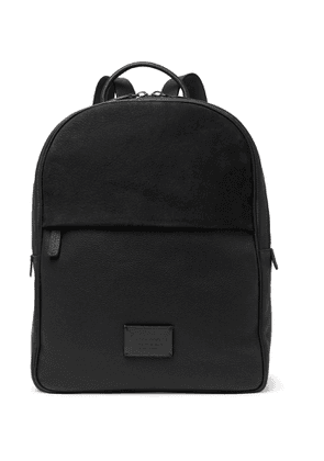 Anderson's - Full-Grain Leather and Suede Backpack - Men - Black