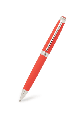Caran d'Ache - Léman Rhodium and Silver-Coated Lacquered Ballpoint Pen - Men - Red