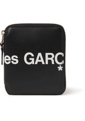 Comme des Garçons - Logo-Print Leather Zip-Around Wallet - Men - Black