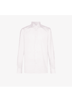 Ermenegildo Zegna Mens White Classic Button-down Shirt
