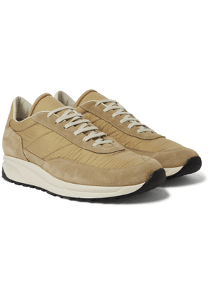 Common Projects - Track Classic Leather-Trimmed Suede and Ripstop Sneakers - Men - Brown