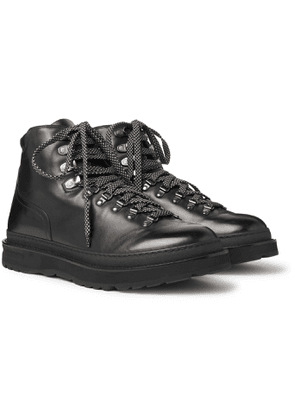 Dunhill - Traverse Burnished-Leather Boots - Men - Black