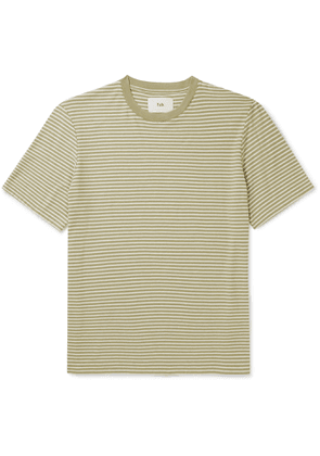 Folk - Striped Cotton-Jersey T-Shirt - Men - Green