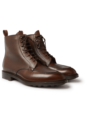 Purdey - Full-Grain Leather Lace-Up Boots - Men - Brown
