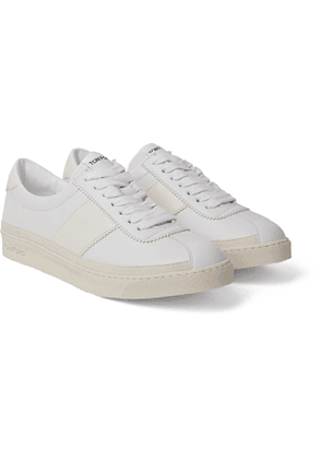 TOM FORD - Bannister Leather Sneakers - Men - White