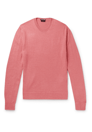 TOM FORD - Slim-Fit Alpaca and Silk-Blend Sweater - Men - Pink