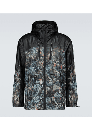 Printed technical-fabric jacket