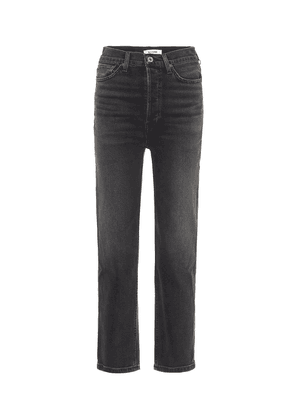 Stove Pipe high-rise straight jeans