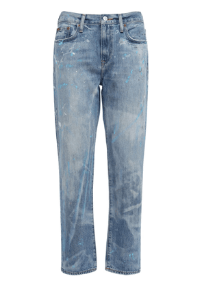 Dyed Boyfriend Cotton Straight Jeans